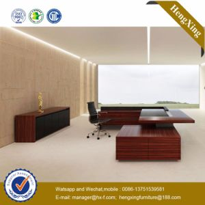 L Shape Round Coffee Table Attached Executive Office Desk (HX-ND5003.2) pictures & photos
