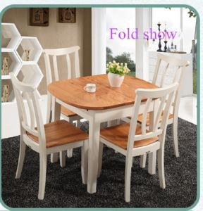 Mediterranean Extendable Solidwood Dining Furniture Table and Chairs