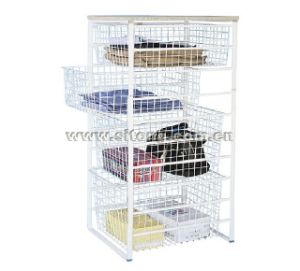 Ten Tier Free Standing Powder Coated Wire Basket Storage Kit (LL-10) pictures & photos