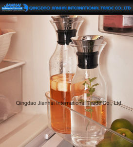 Hot-Sale Drinking Water Glass Jug with Stainless Steel Lid pictures & photos
