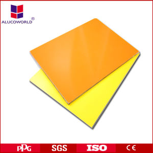 Alucoworld Aluminum Wall Cladding Construction Material Plastic Sheet pictures & photos