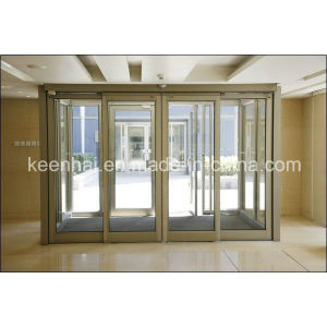 Interior Gold Color Mirror Finish Stainless Steel Glass Sliding Door pictures & photos