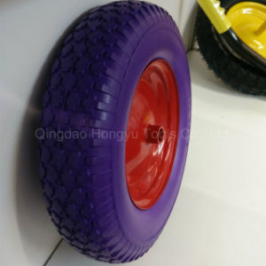 "High Quality Metal Rim 16"" Solid PU Foam Wheel pictures & photos"
