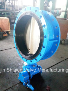 Ss304/316 Stainless Steel Disc Flange Butterfly Valve with Gearbox Actuator pictures & photos