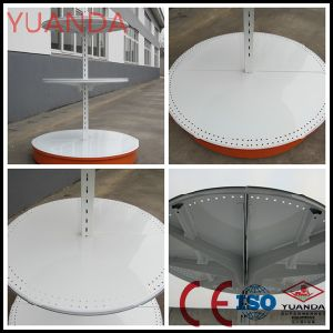 Round Supermarket Metal Shelf Use in Suoermarket pictures & photos