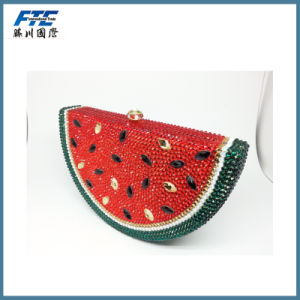 Special Beaded Watermelon Shape Crystal Bag Fashion Wallet pictures & photos