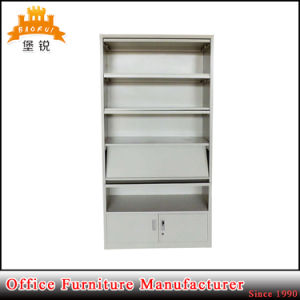 Popular Library Metal Magazine Shelf with Cabinet Base pictures & photos