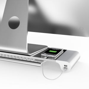 Desktop Monitor Stand Organizer with 4 USB Ports pictures & photos