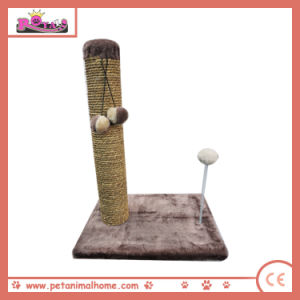 Cat Scratching Natural Seagrass Post with Hanging Toy pictures & photos
