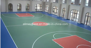 Basketball Court with Crystal Wear Resisting Layer to Protect From Color Fade pictures & photos