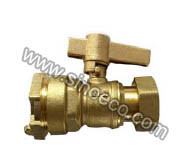 Brass Straight Magnetic Lockable Angle Ball Valve pictures & photos