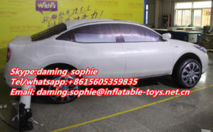 Outdoors Promotional Inflatable Car Replica Balloon with Airblowing