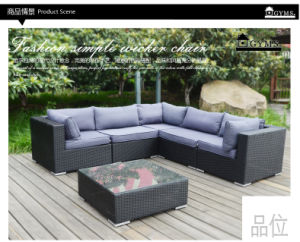 Wicker Furniture Rattan Sofa for Garden with Aluminum Frame pictures & photos
