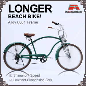 26 Inch Alloy Frame 7 Speed Longer Beach Cruiser Bicycle for Men (ARS-2685S) pictures & photos