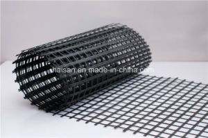 Cover Bitumen Fiberglass Geogrid Use for Reinforcement Road Wall pictures & photos