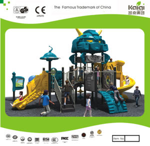 Kaiqi Medium Sized Cool Robot Themed Children′s Playground with Slides and Climbing Wall (KQ20070A) pictures & photos