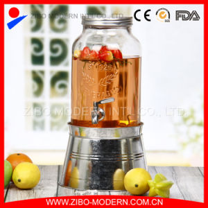 Wholesale Big Clear Juice Glass Jar with Tap pictures & photos