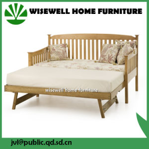 Solid Pine Wood Pull out Sofa Bed for Living Room (WJZ-B81) pictures & photos