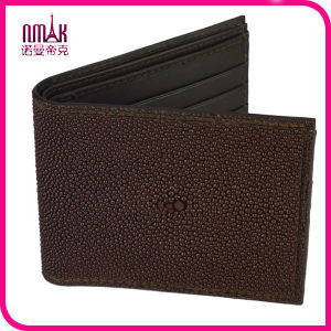 Handmade Genuine Stingray Skin Leather Men′s ID Photo Card Bifold Wallet Purse pictures & photos