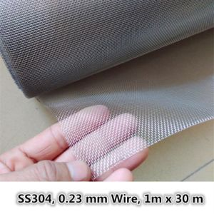 0.23 mm Wire, 1 X 30 M, Insect/ Mosquito Screen, Stainless Steel Window Neting pictures & photos