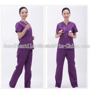 Women′s Scrub Uniforms /Hospital Scrubs/Nursing Uniforms Fabric with 100% Cotton