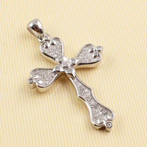 2014 Top Sell 925 Sterling Silver CZ Cross Pendant Psgy3757