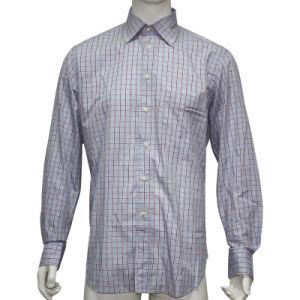 Men′s Poplin Checked Shirt (HD0002)