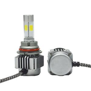 LED Headlight V8 9004 COB Chips Aluminum Car Head Bulbs pictures & photos