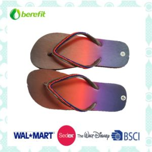 PE Sole and Beautiful Printing, PVC Straps, Flip Flops pictures & photos