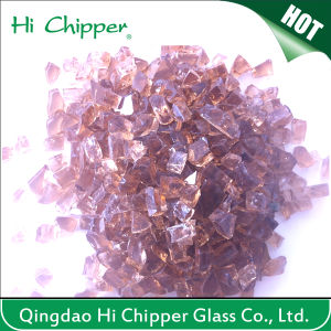 Landcaping Purple Terrazzo Glass Chips pictures & photos