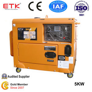 Portable Silent Diesel Generator Set (5KW Color) pictures & photos