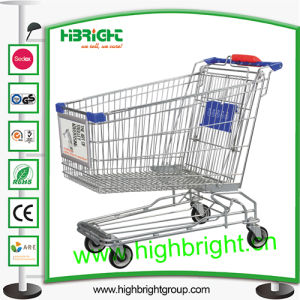 Asian Style Heavy Duty Wire Metal Shopping Trolley pictures & photos