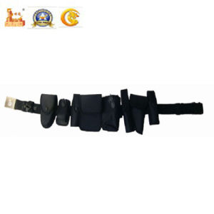 Police Equipment The Third Generation White Leather Nylon Belt (Y SD-03N) pictures & photos