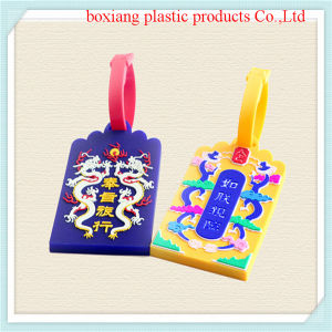 2014most Popular Custom Design Plastic Luggage Tag for Promotion (bxpvc4)