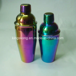 550ml & 750ml Rainbow Color Drink Shaker Stainless Steel Martini Cocktail Bar Tools Wine Mixer Shakers Set pictures & photos
