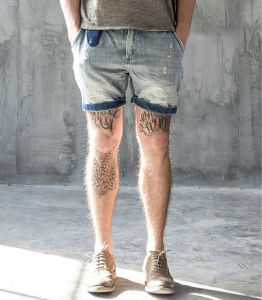 Factory Simple Original Slim Fashion Leisure Fading Short Men′s Jeans Pants pictures & photos