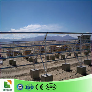 Ground Solar Mounting Bracket Concrete Foundation