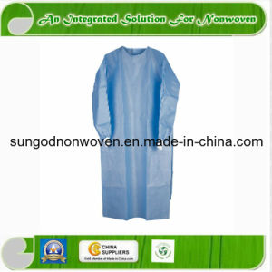 Medical Disposable Nonwoven Isolation Surgical Gown Fabric with Knitted Cuffs pictures & photos
