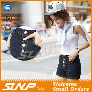Denim Mini Buttons Shorts for Girls