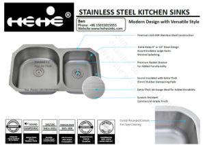 Kitchen Sink, Stainless Steel Sink, Sink, Handmade Sink, Undermount Double Bowl Kitchen Sink pictures & photos