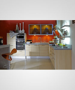 Modern Style Melamine Board Kitchen Cabinet Manufacture (zg-023) pictures & photos
