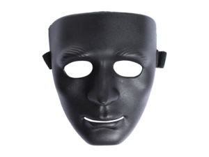 Airsoft Man Face Black Plastic Face Mask pictures & photos