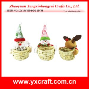 Christmas Decoration (ZY14Y429-1-2-3 15CM) Christmas Gift Basket pictures & photos