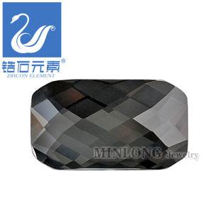 Octagon Shape Rose Cut Ziron Gemstone Accessory Black Color (CZ-1138)