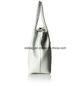 High Quality Two-Tone Women Tote Bag Pure Color Bucket Bag pictures & photos