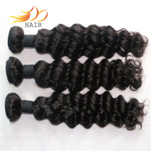 100% Cambodian Virgin Hair 7A Deep Wave Human Hair Weaving pictures & photos
