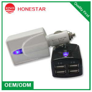 6.2A Four USB Car Charger for Digital Products Charging pictures & photos