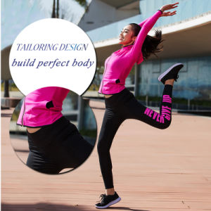 Wholesale Sexy Custom Nylon Spandex Patterned Women Fitness Gym Yoga Leggings pictures & photos