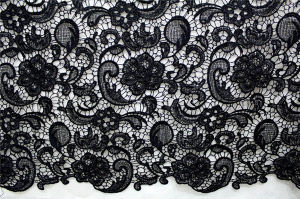 Flower Design Chemical Lace Fabric for Garment pictures & photos