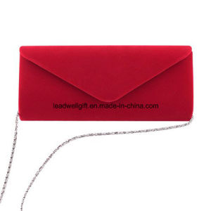 Wedding Evening Party Velvet Clutch Bag Retro Envelope Cross Body Handbag pictures & photos